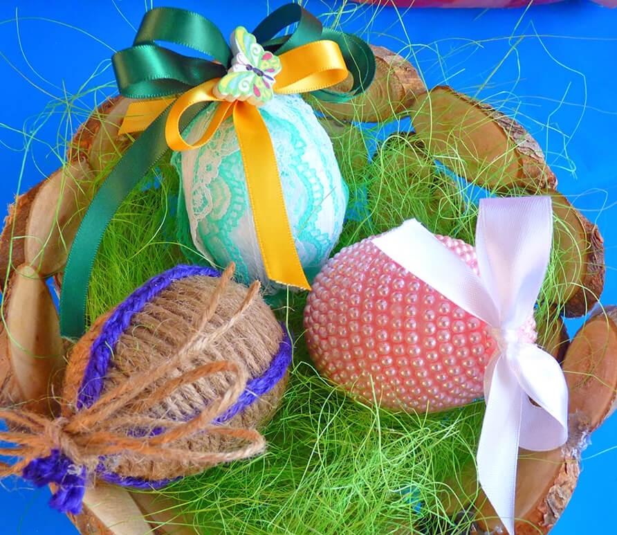 Décoration de Pâques - Décoration originale d'oeufs