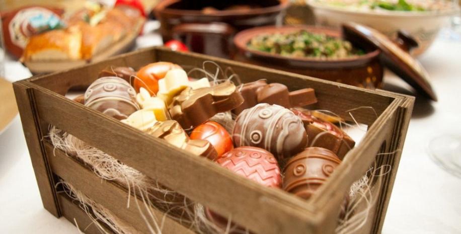 Dessert de Pâques - bonbons au chocolat