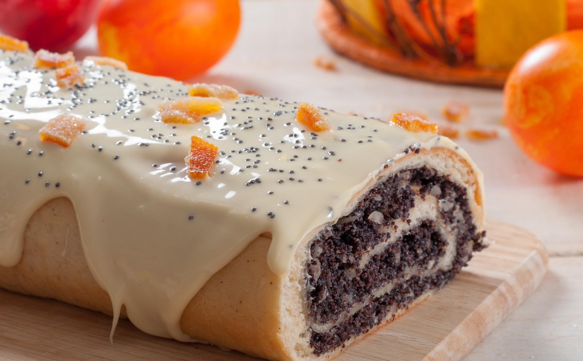 Dessert de Pâques - Rouleau de graines de pavot