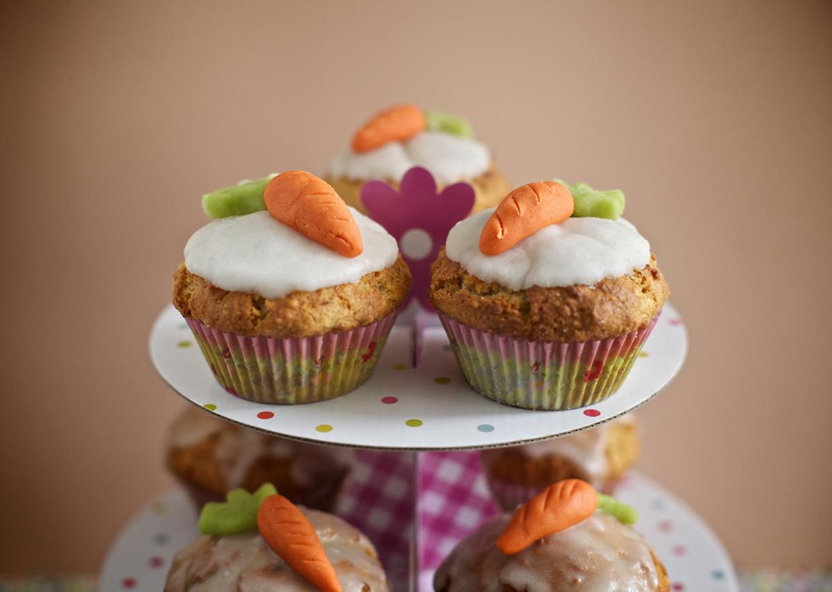 Dessert de Pâques - Muffins aux carottes sucrées