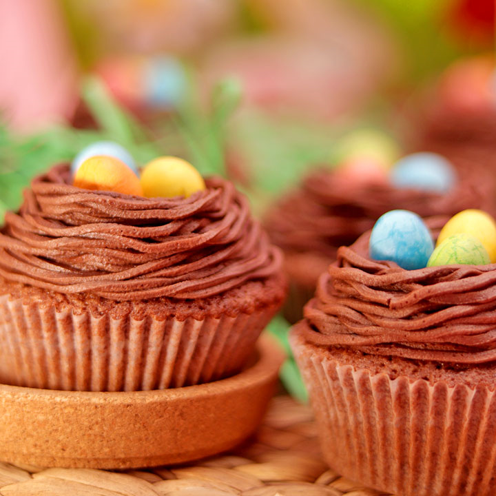 Dessert de Pâques - muffins au chocolat et à l'orange