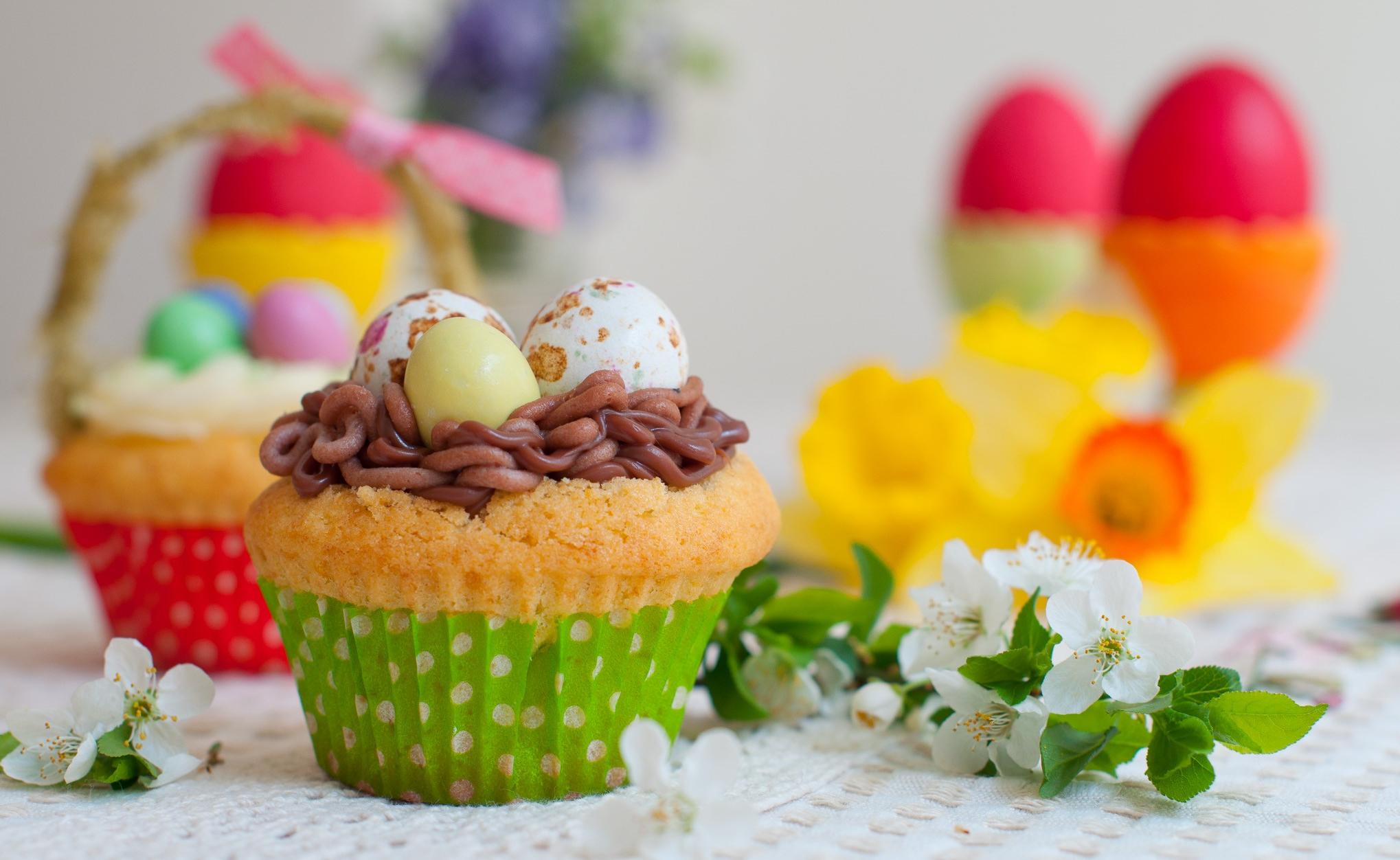 Dessert de Pâques - muffins à la vanille et à l'orange