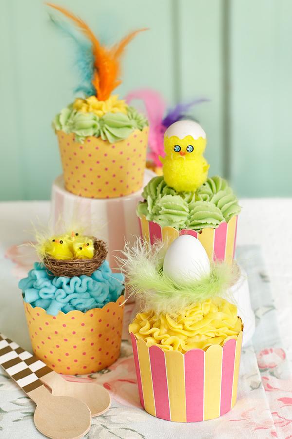 Dessert de Pâques - une idée de muffins à la crème