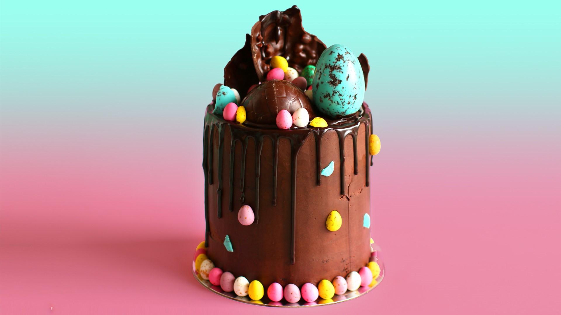 Délicieux gâteau au chocolat.