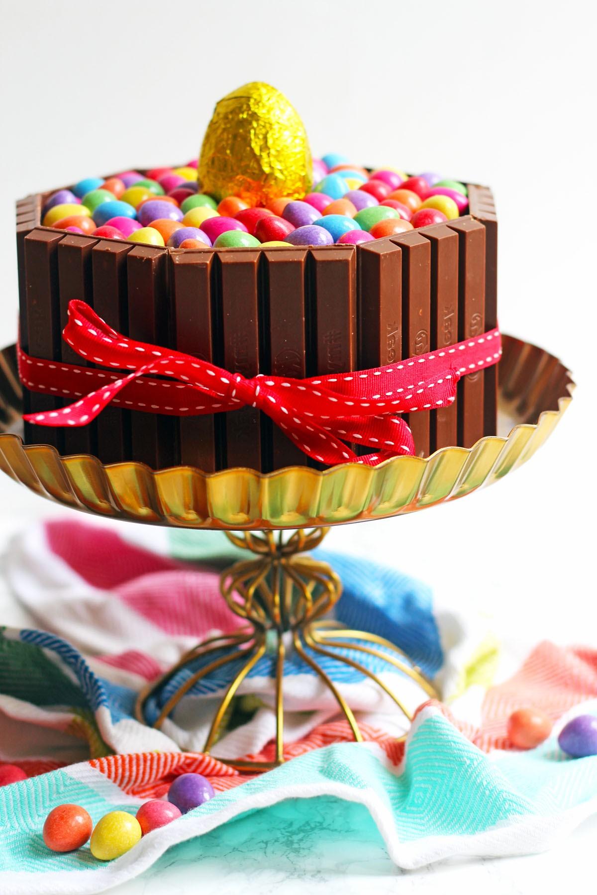 Gâteau de Pâques au chocolat.