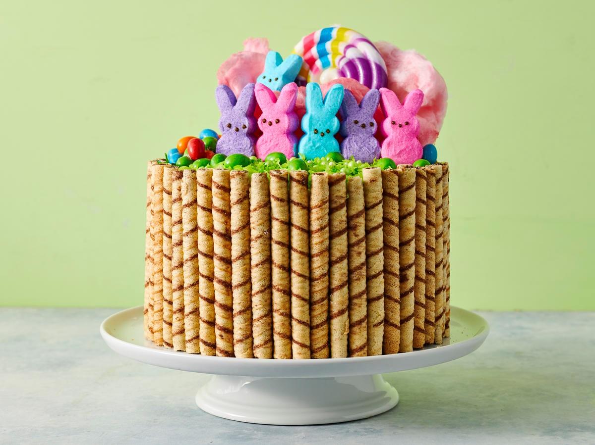 Cake au chocolat pour Pâques.