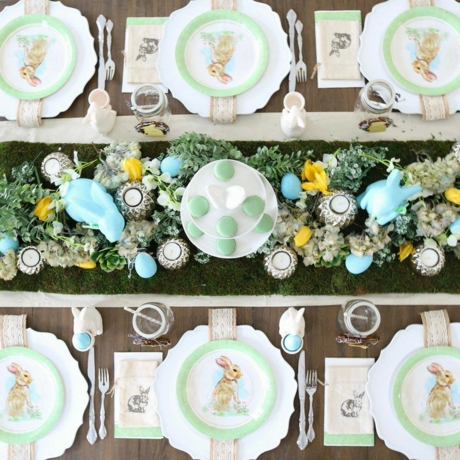 Idées de bricolage de Pâques: centres de table de fête.
