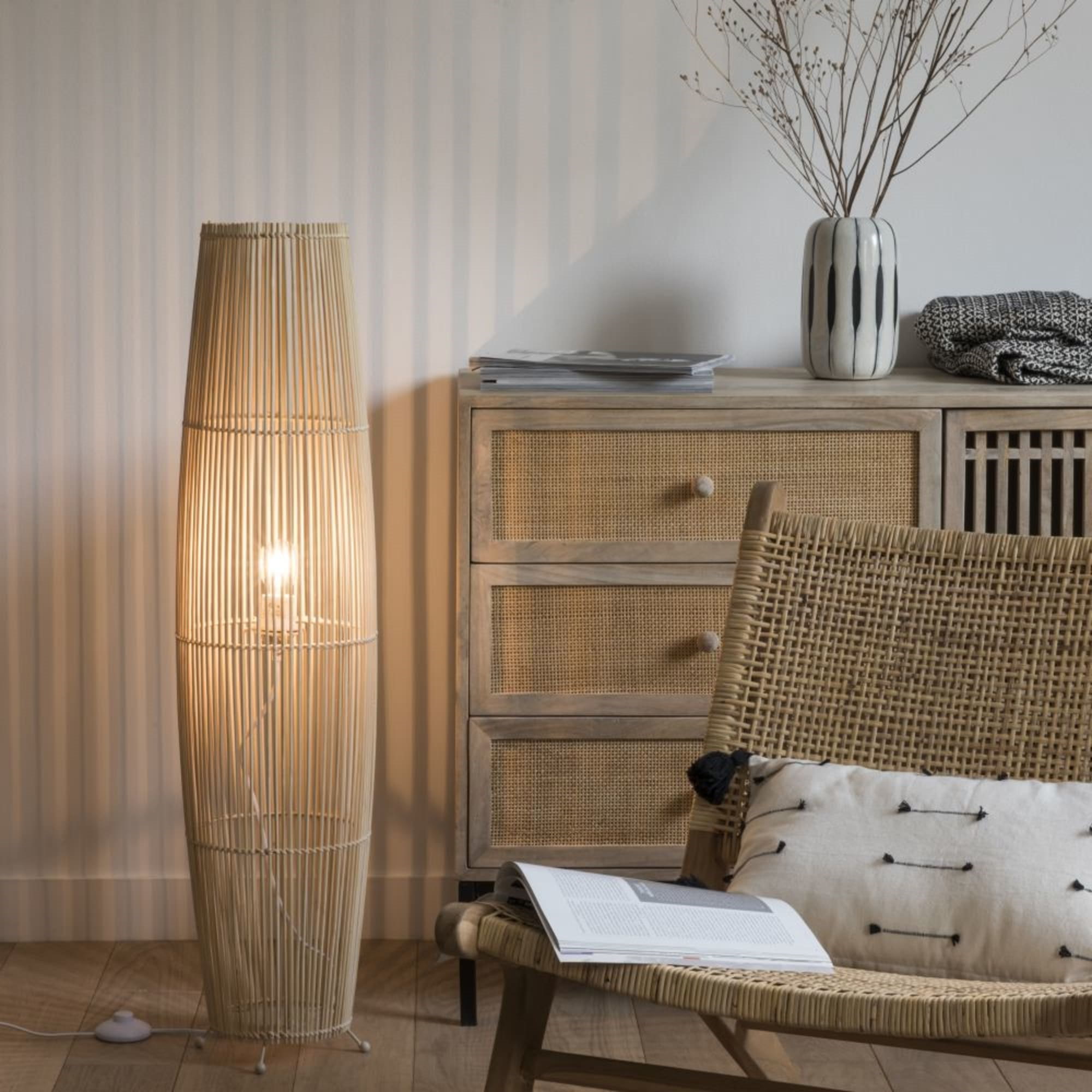 Luminaires Maison du Monde - Lampadaires en bambou