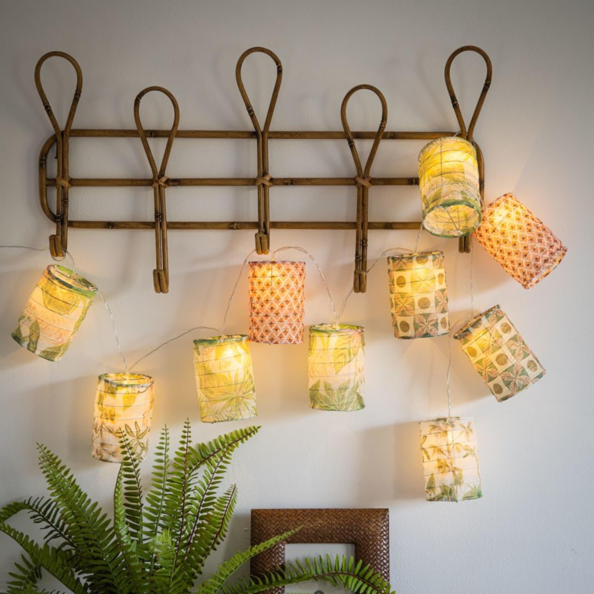 Luminaire Maison du monde - Guirlande lumineuse 10 LED tubes à motifs L170