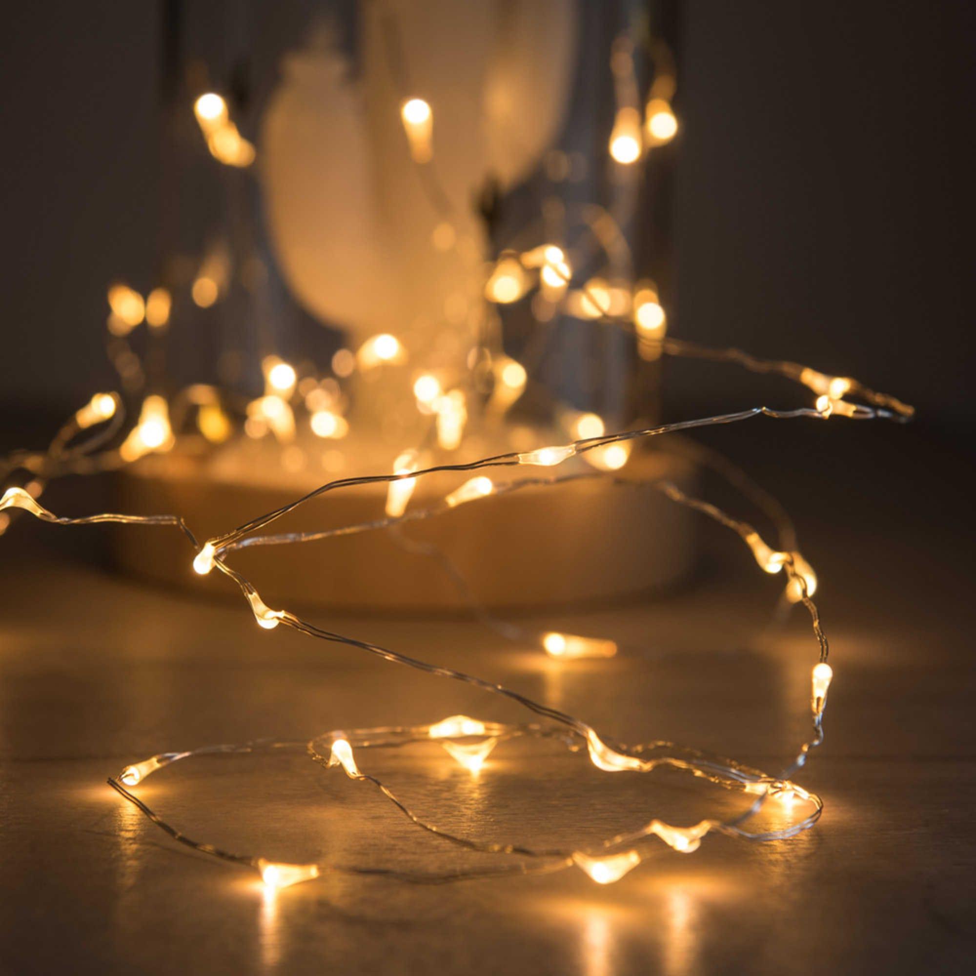 Luminaire Maison du monde - Guirlande lumineuse 60 LED en métal L305