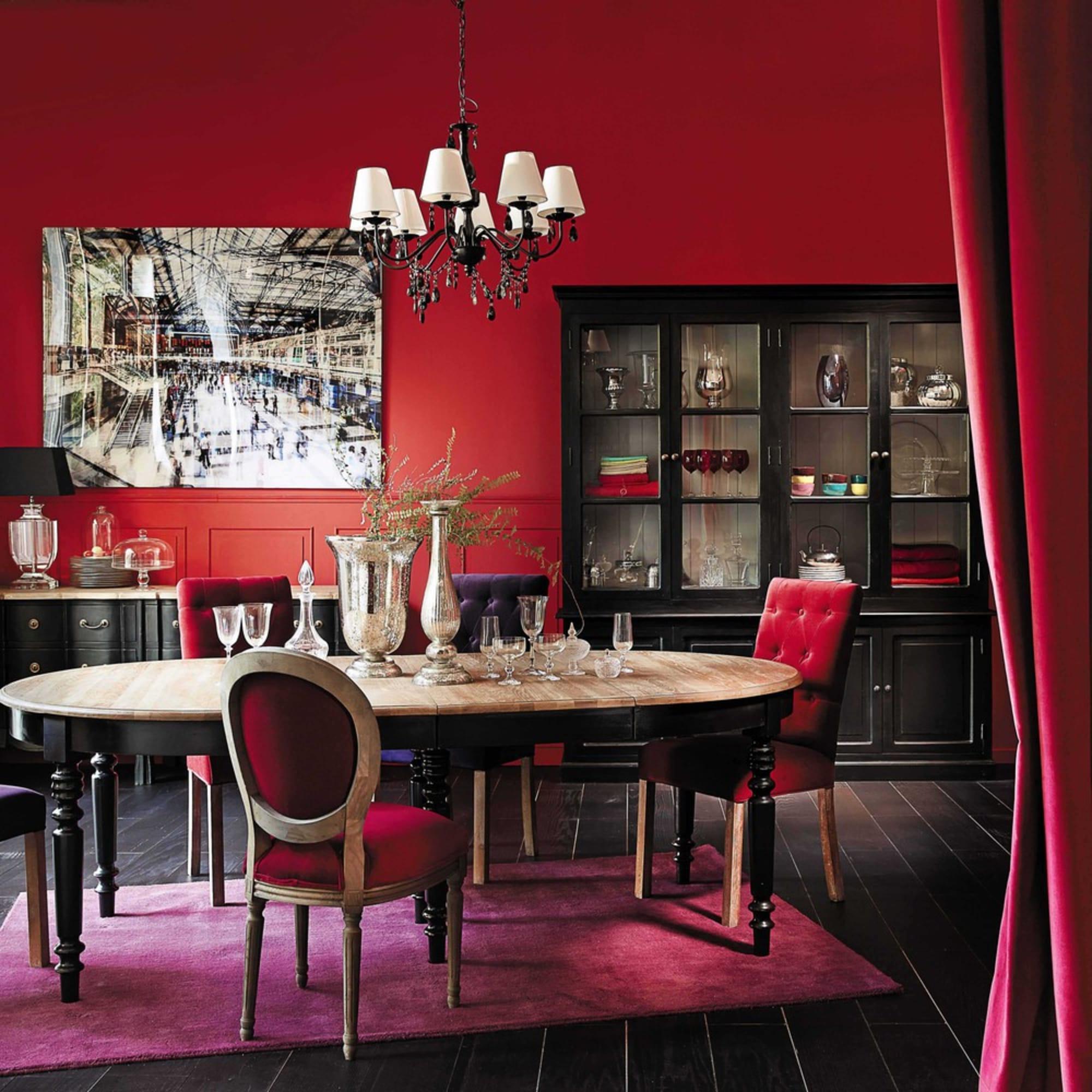 Luminaire Maison du monde - lustres de salle à manger en rouge