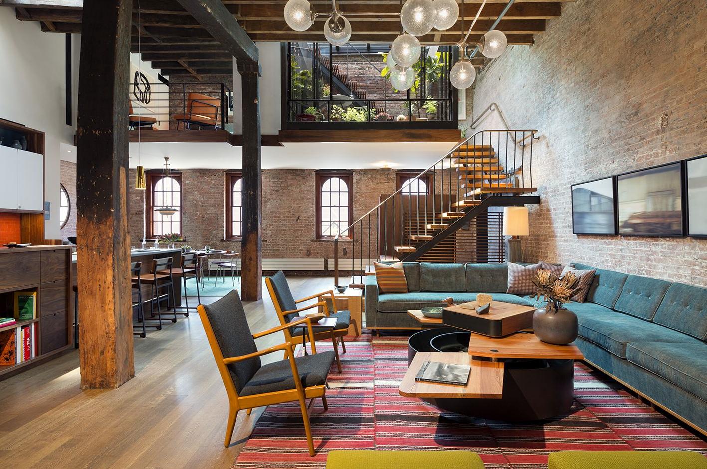 Intérieur de maison de style loft