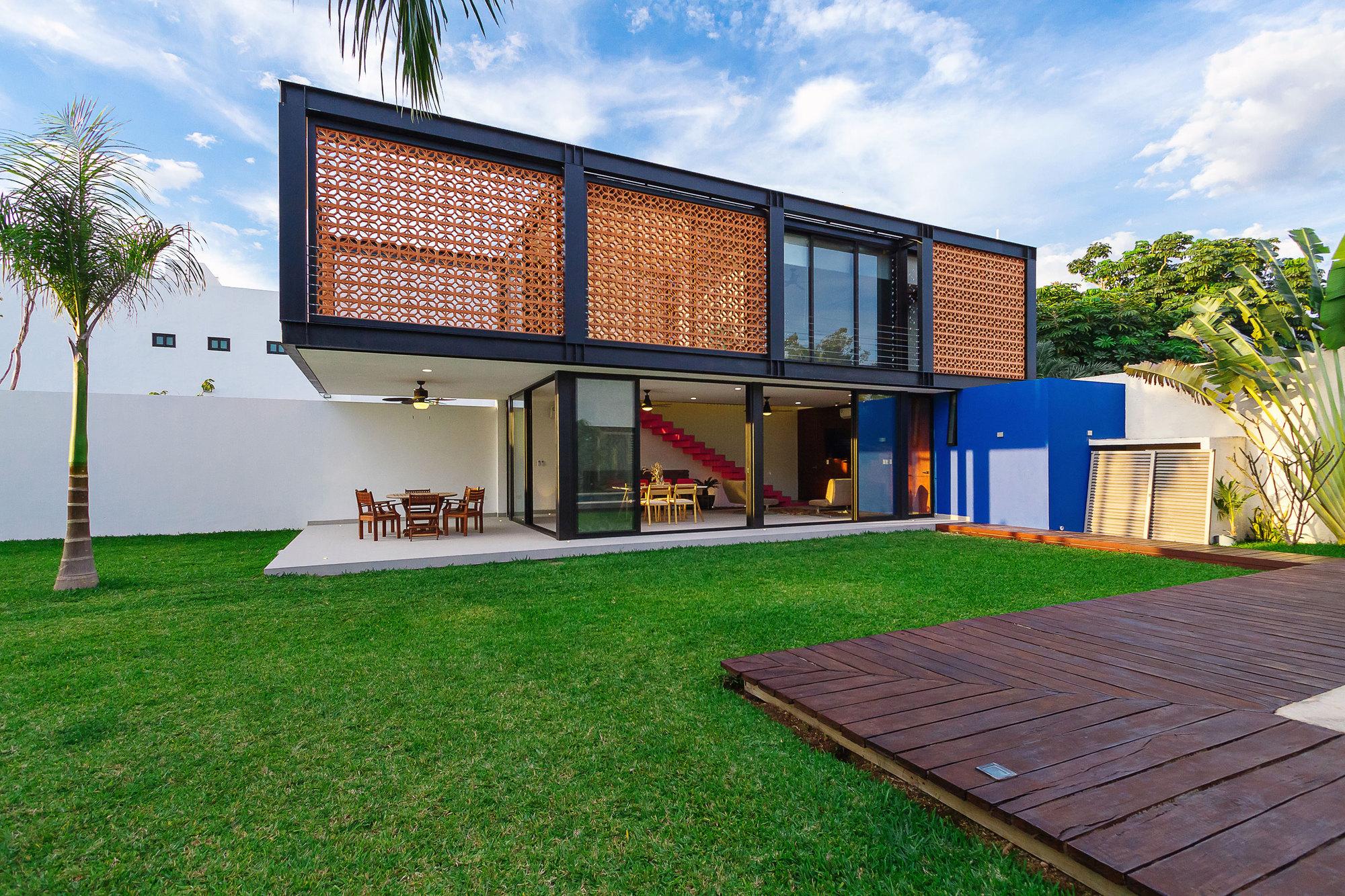 Idée pour une maison de style loft moderne