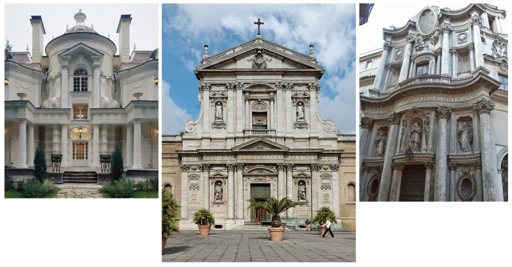 Façade de maison de style baroque