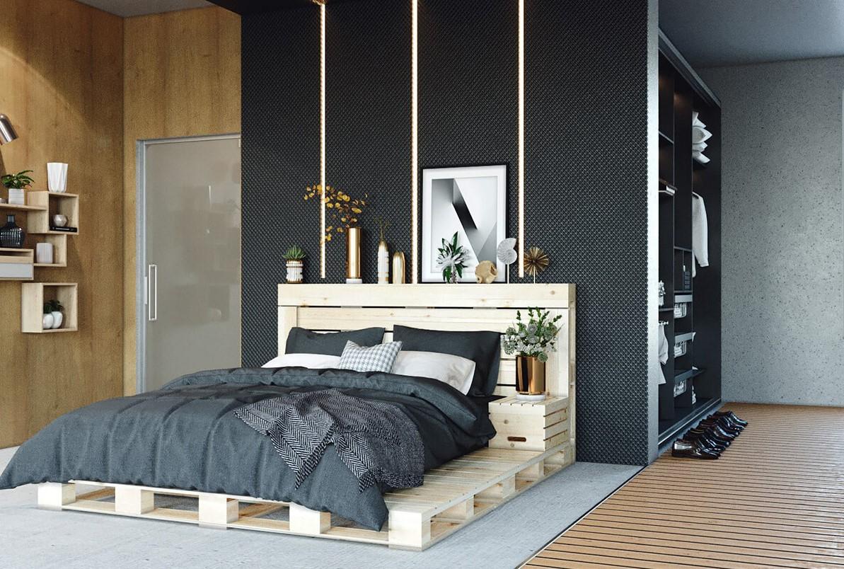 Que faire avec des palettes: cadre de lit bon marché.