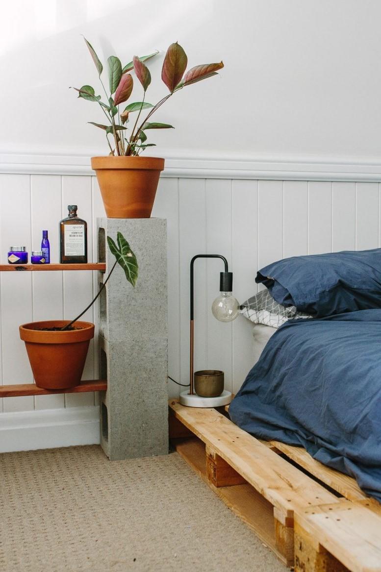 Cadre de lit en palette.