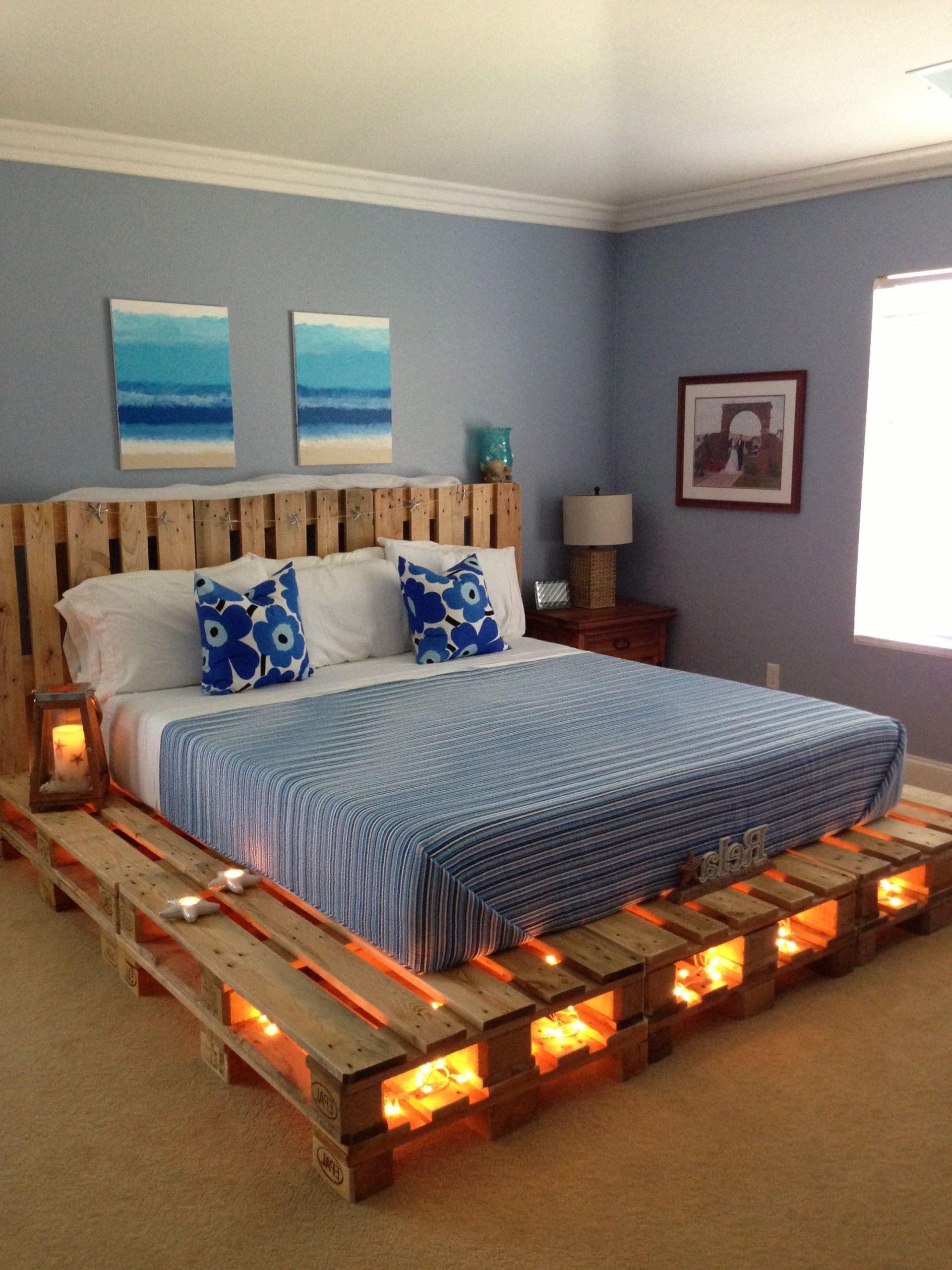 Cadre de lit en palettes.