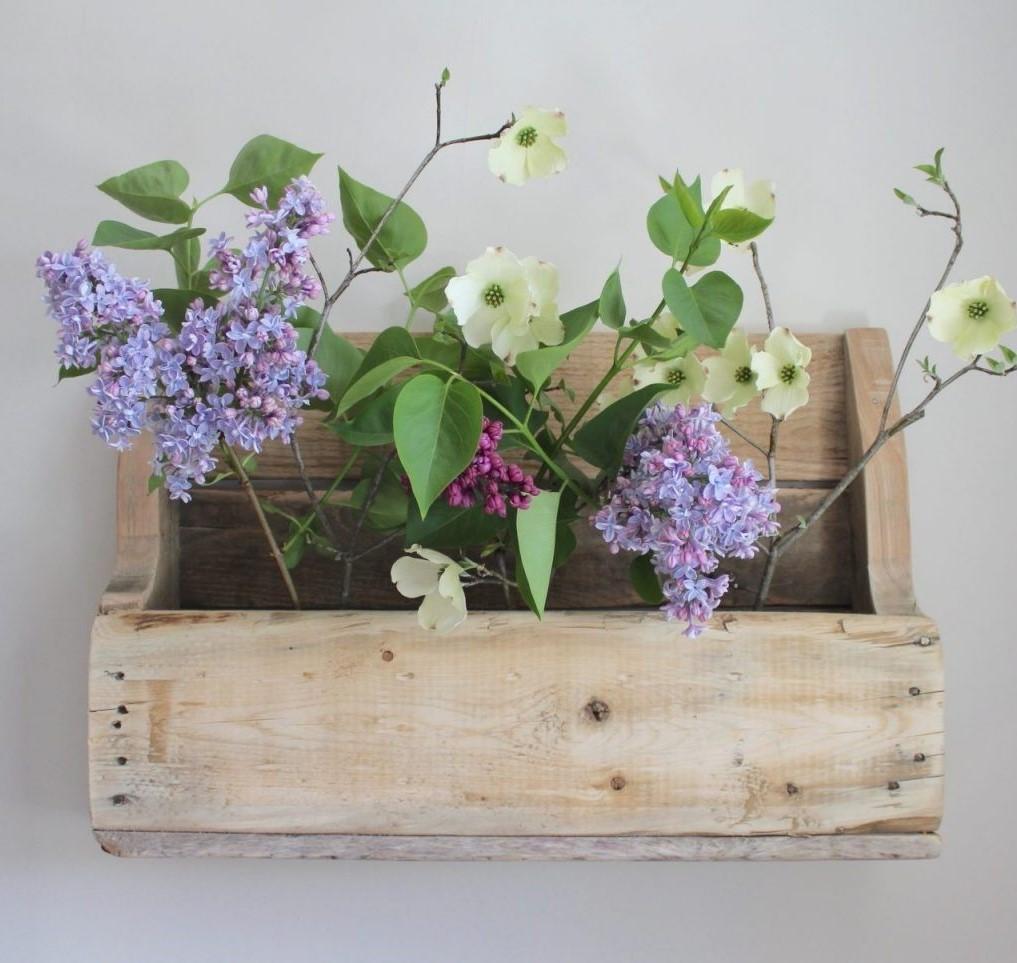 Jardinière en palette DIY.