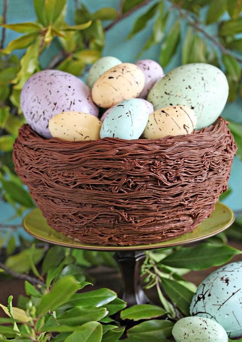 Recette de gâteau Nid de Pâques.