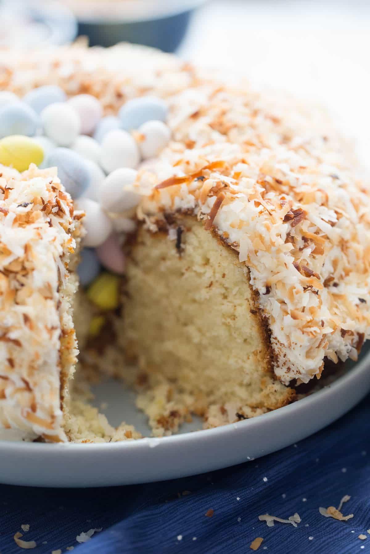 Gâteau en forme de nid.
