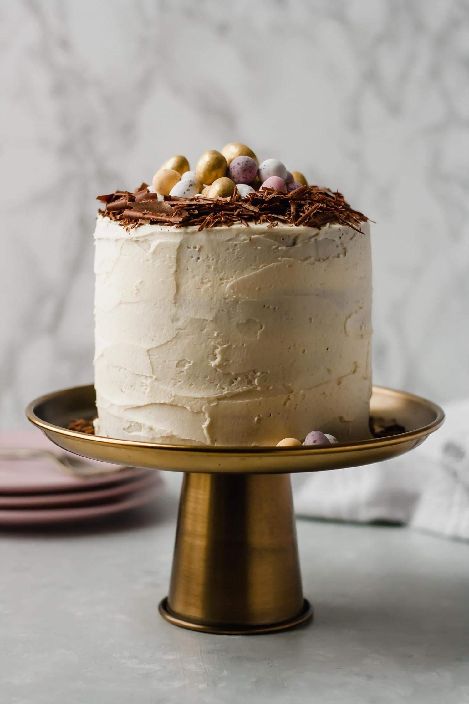 Gâteau au chocolat blanc.