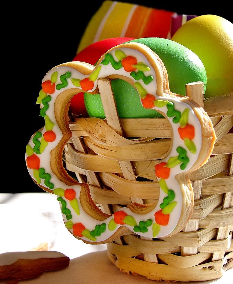 Recettes de biscuits de Pâques - fleur