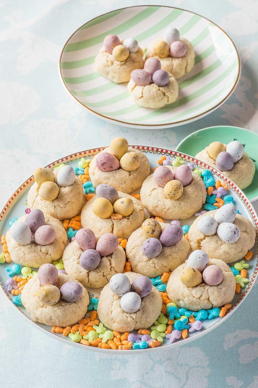 Une recette de biscuits sucrés en forme de nids