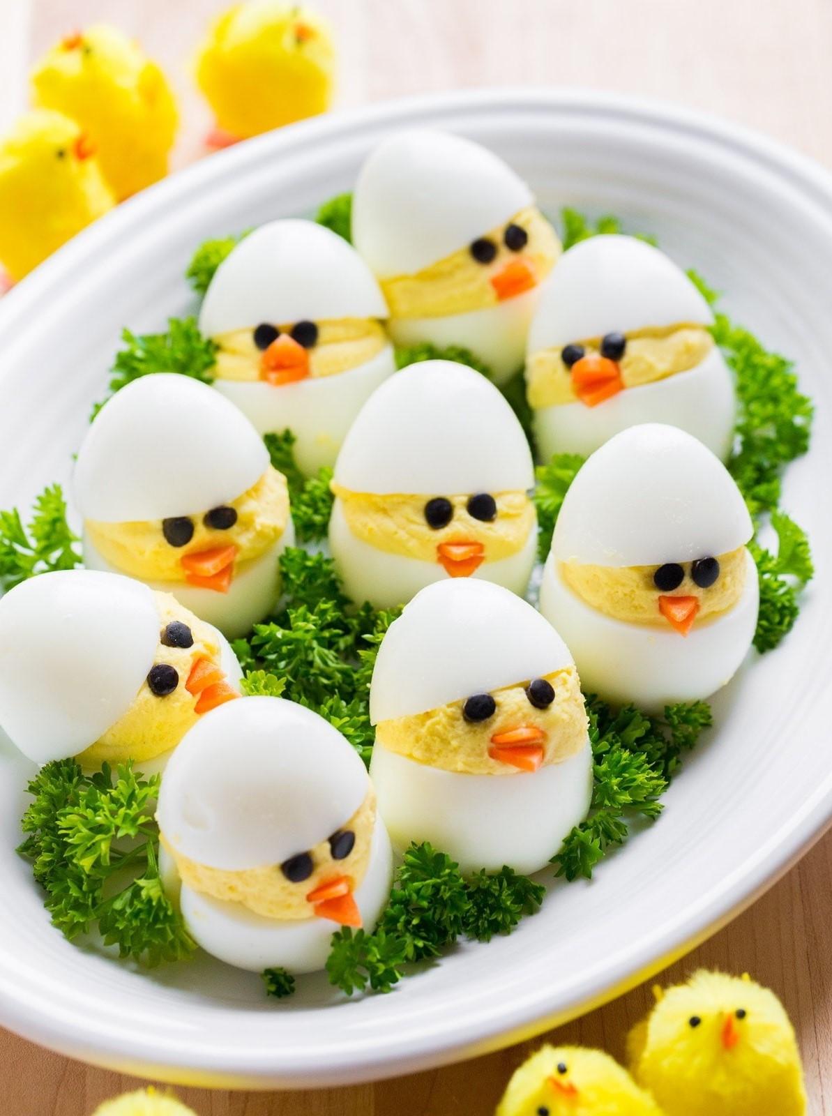 Recettes de Pâques: délicieux apéritif aux œufs.