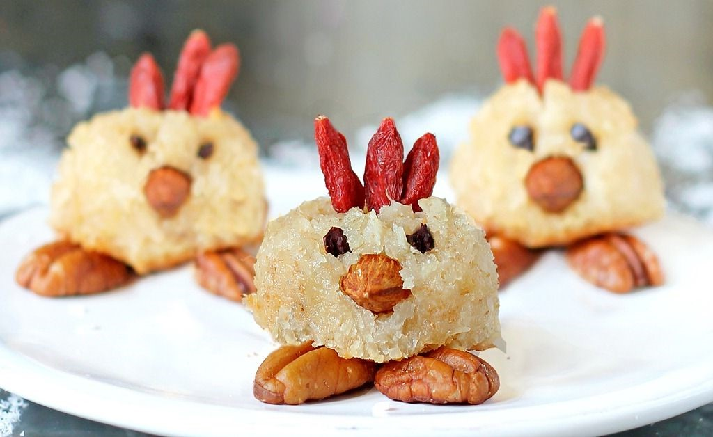 Biscuits à la noix de coco ''Angry birds''.