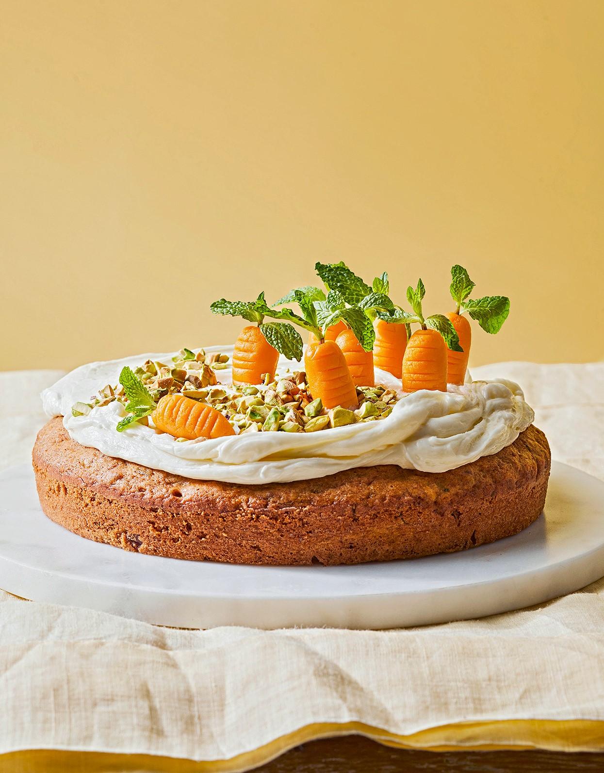 Délicieux gâteau aux carottes.