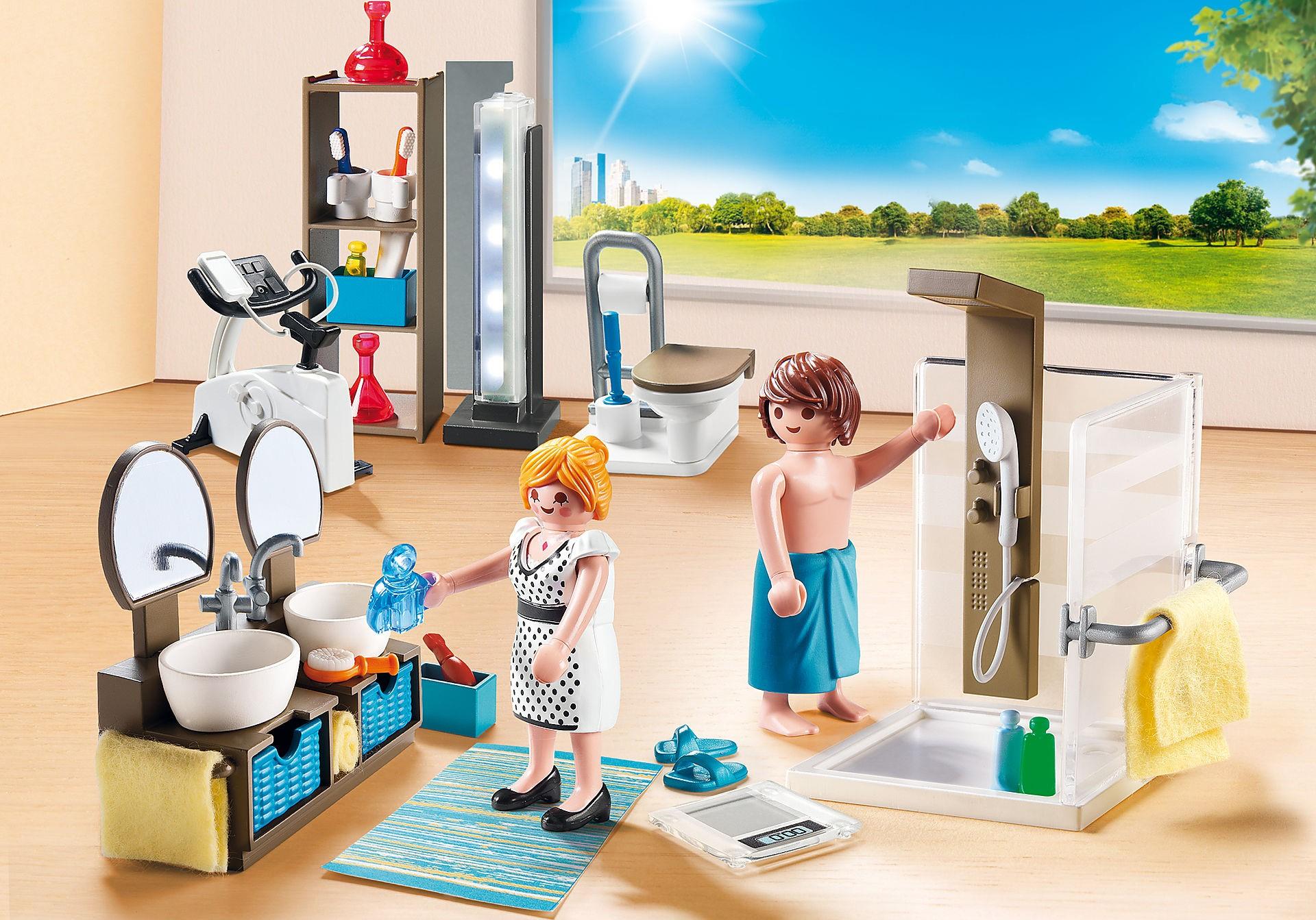 Salle de bain Playmobil.