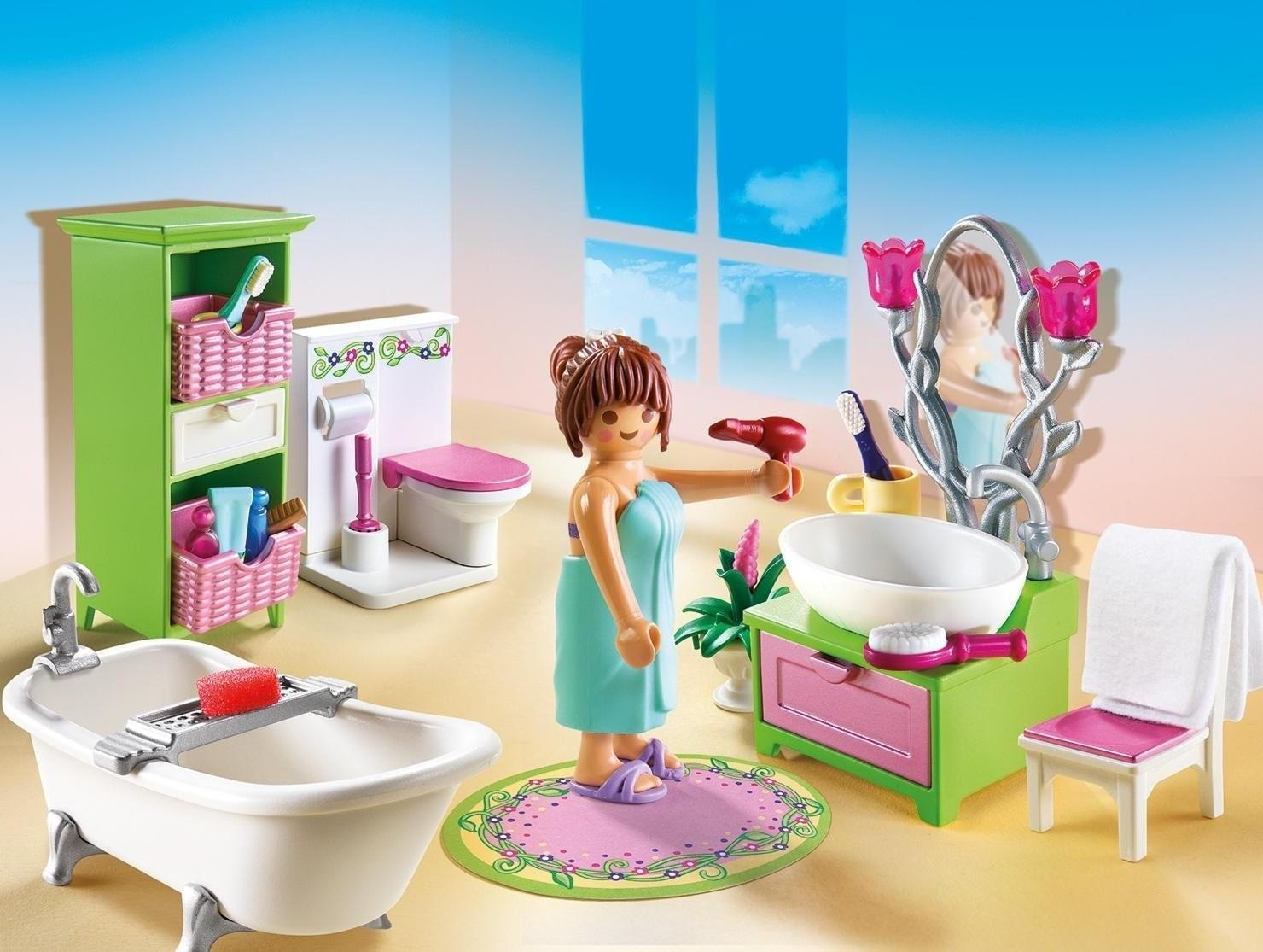 Salle de bains Playmobil.