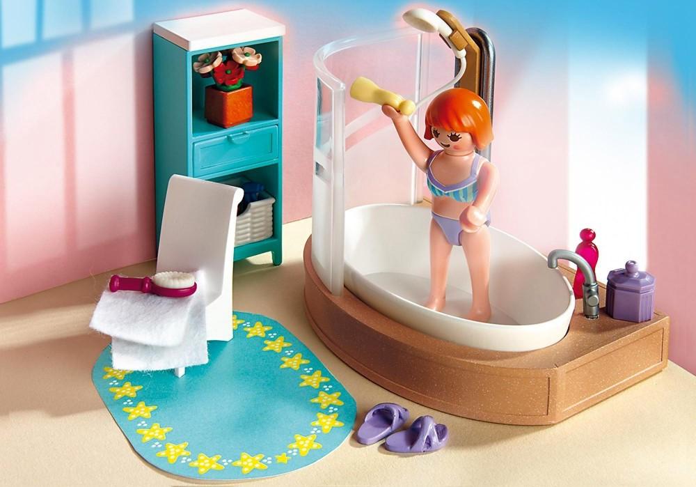 Salle de bains Playmobil moderne.