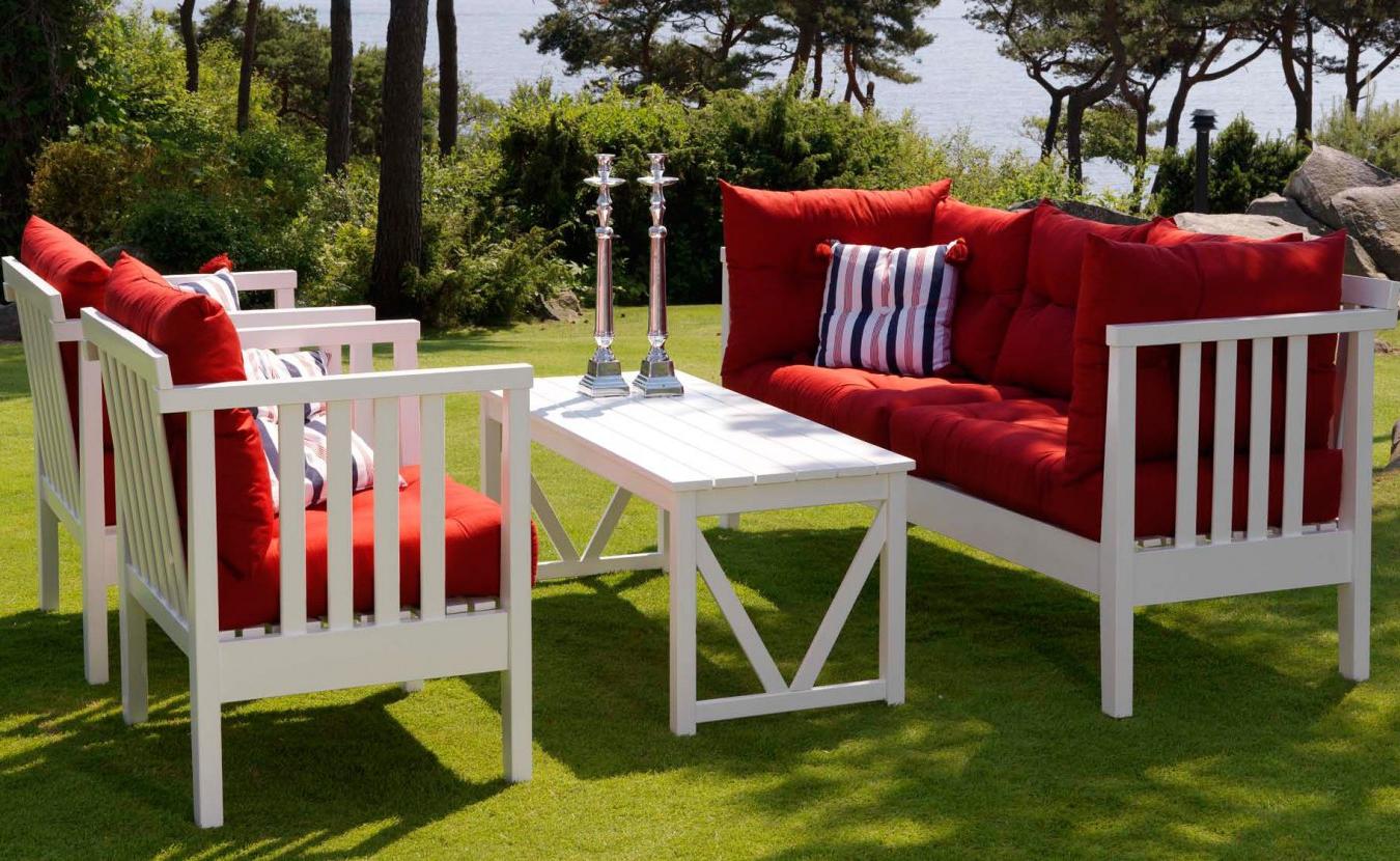 Salon de jardin Ikea - meubles en blanc