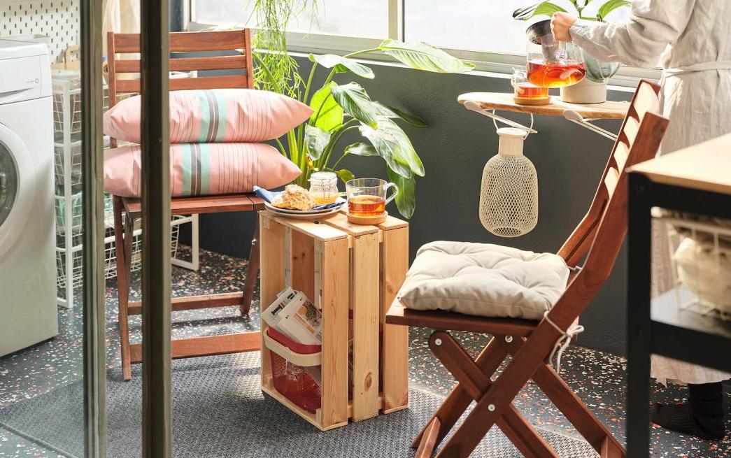Salon de jardin Ikea - mobilier pour une petite terrasse couverte