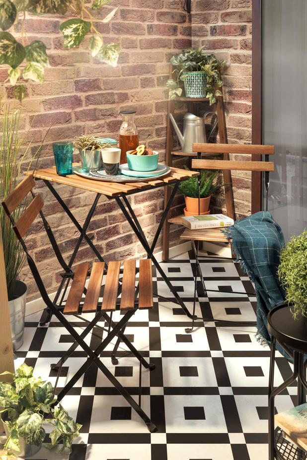Salon de jardin Ikea - Table pliante et chaises de terrasse