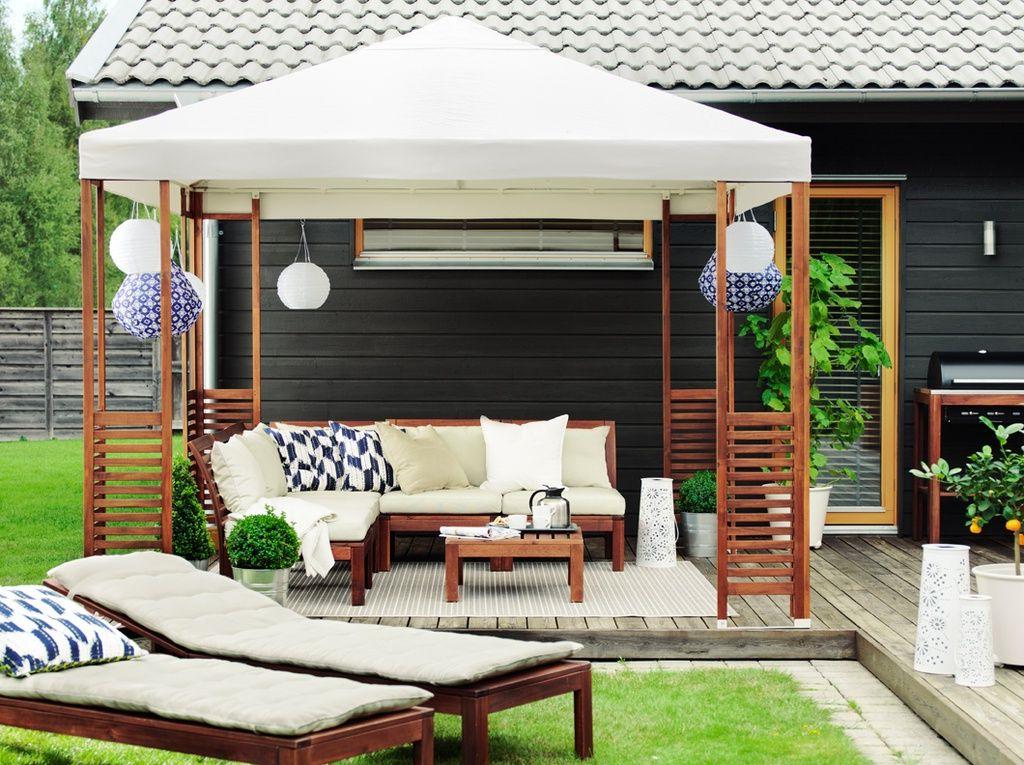 Idée pour une tente pour le jardin avec des meubles d'Ikea