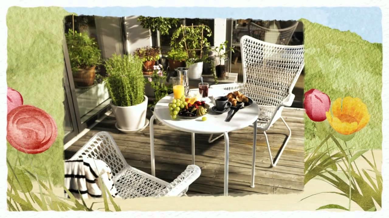 Salon de jardin Ikea - petit déjeuner d'été sur la terrasse