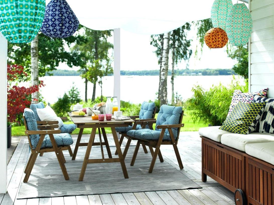 Une idée pour un jardin au bord du lac avec des meubles pliants d'Ikea