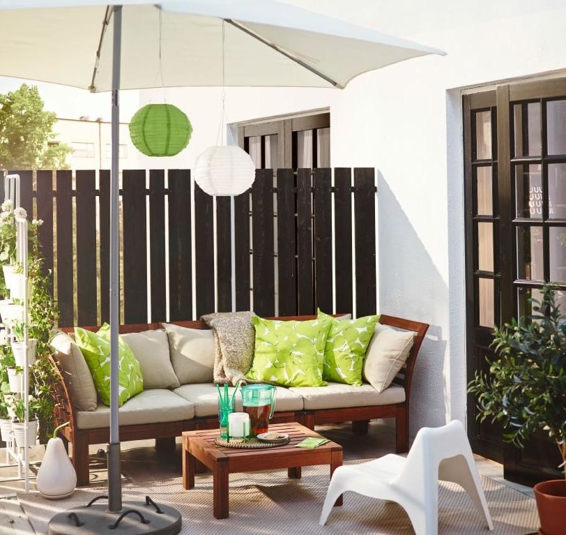 Idée pour un lieu dans le jardin avec des meubles d'Ikea