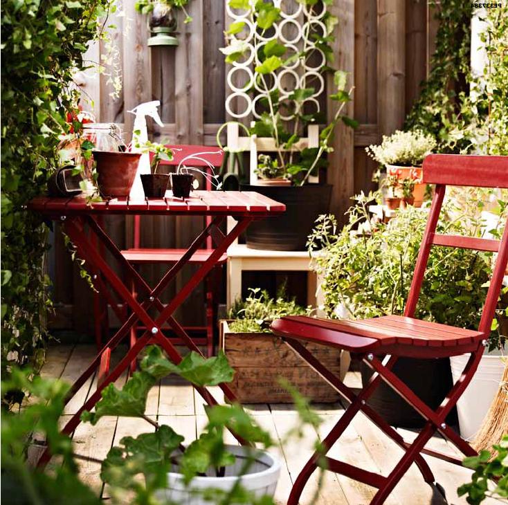 Salon de jardin Ikea - meubles pliants pour la terrasse