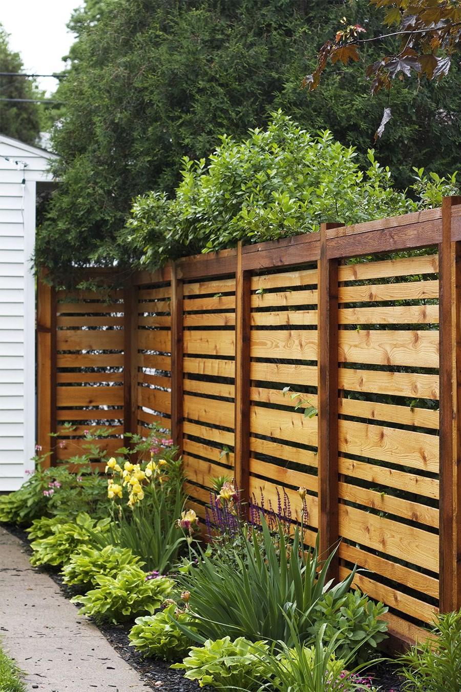 Brise-vent en bois pour votre maison.