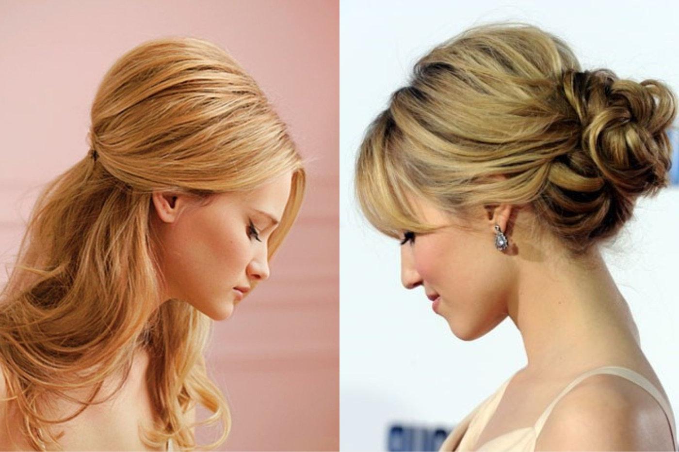 Coiffure attachée - Cheveux surélevés dans un style décontracté