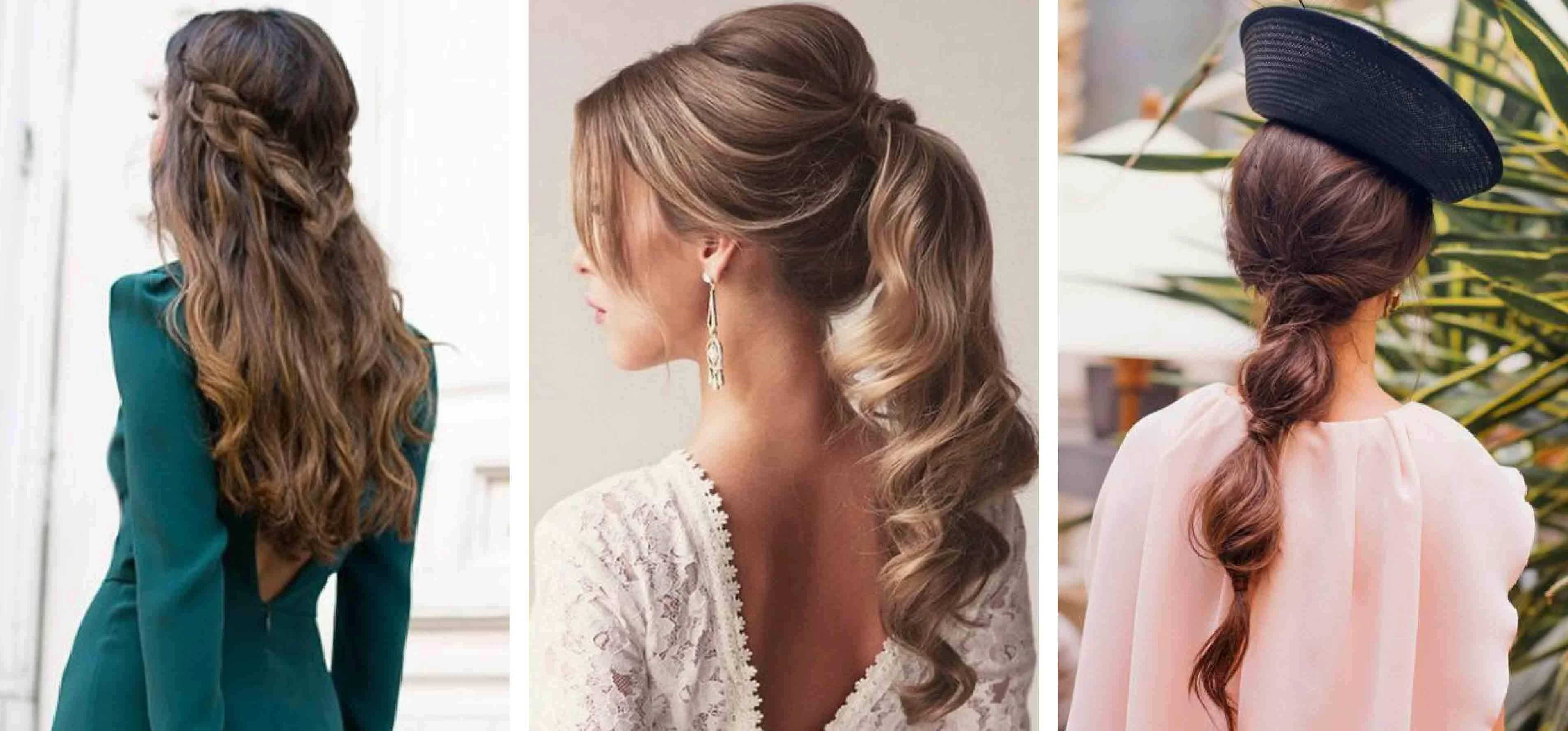 Trois types de coiffures élégantes attachées