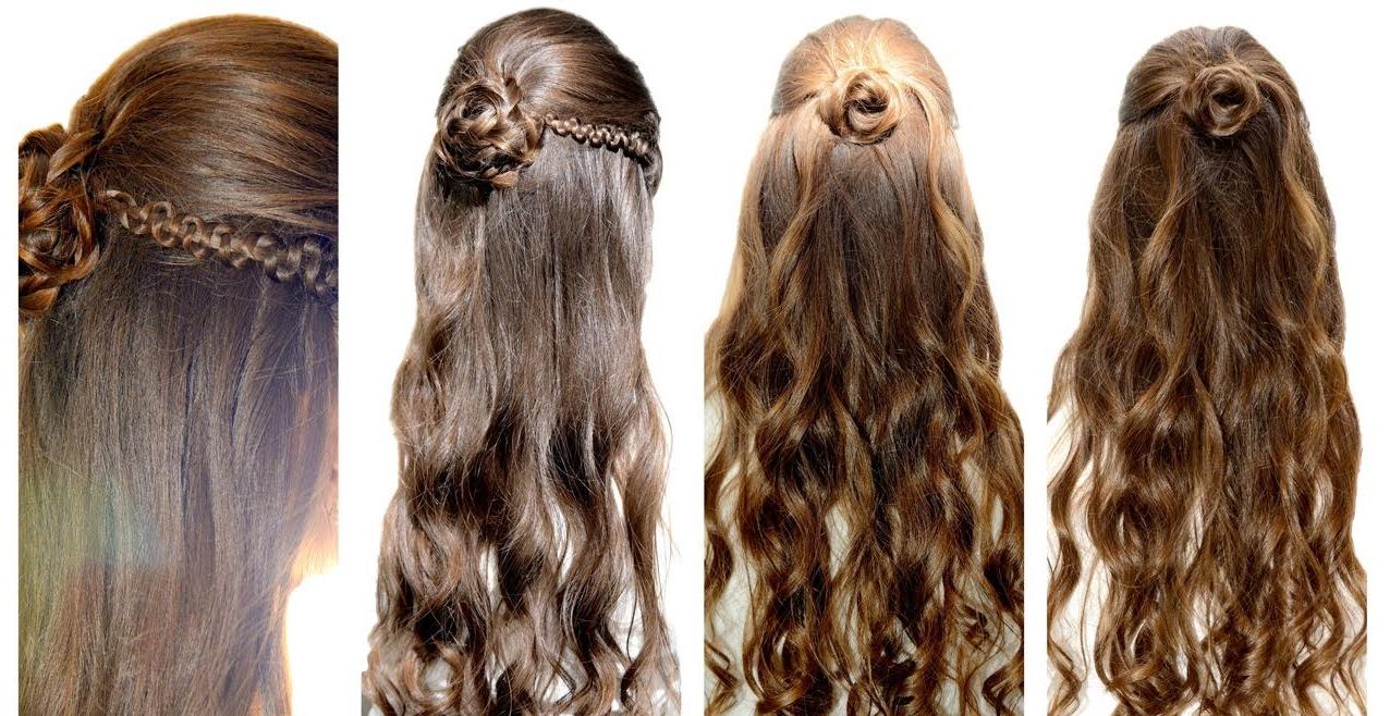 Coiffure avec chignon et cheveux en duvet
