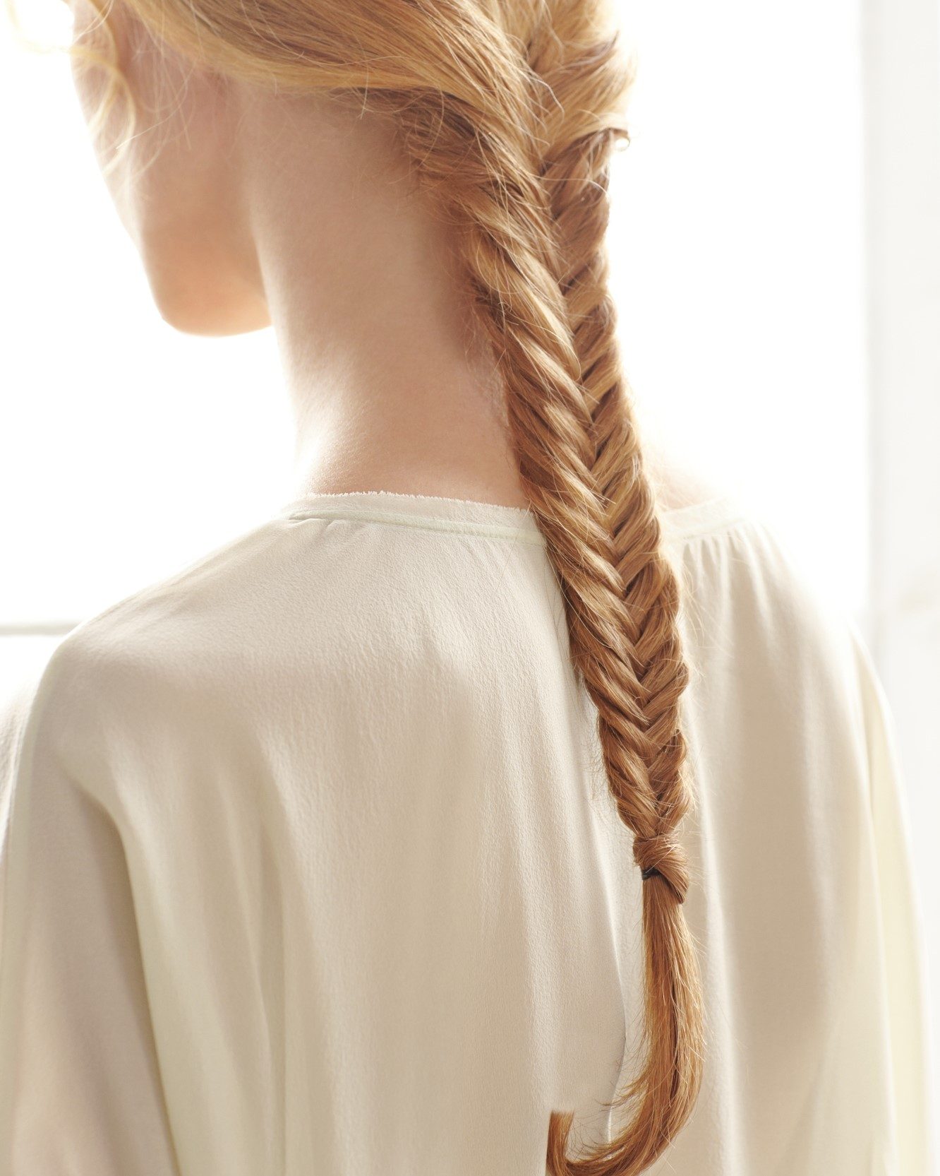 Tresse ''queue de poisson''.
