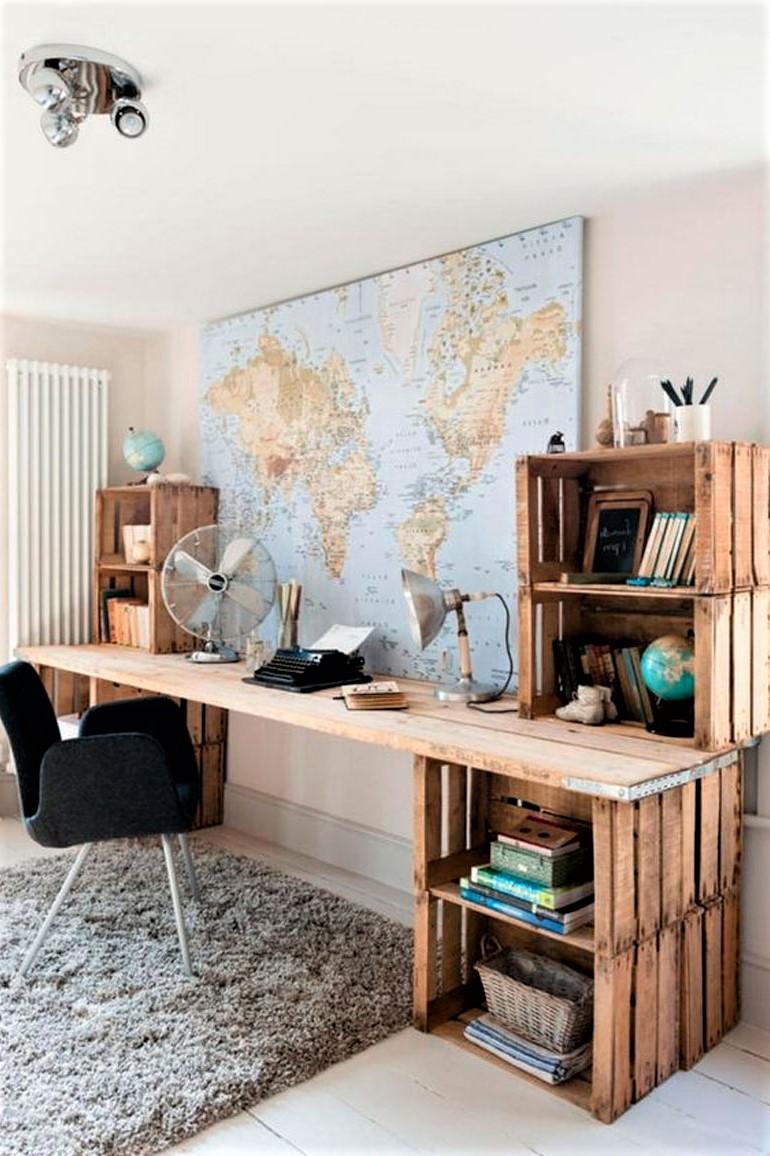 Déco avec palette: meuble de rangement bricolage.
