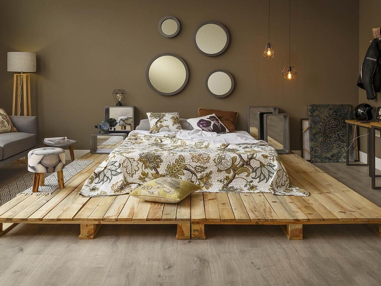 Déco avec palette pour votre chambre à coucher.