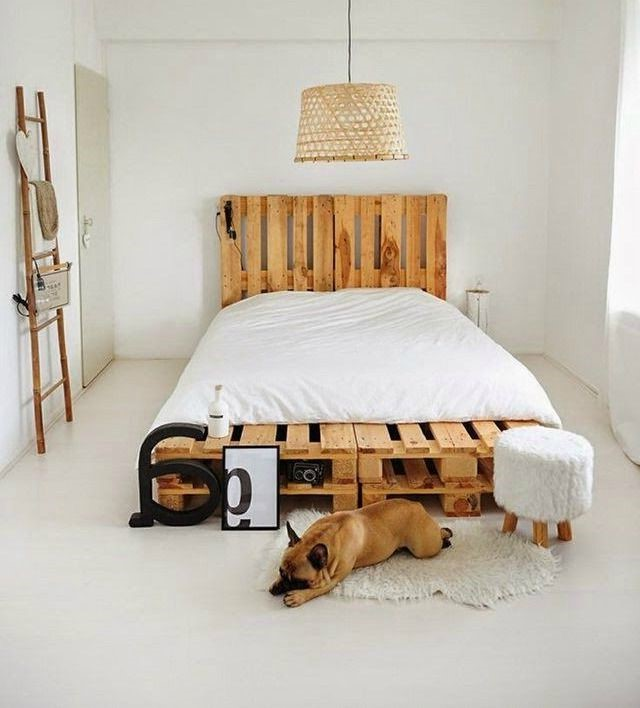 Cadre et tête de lit DIY.