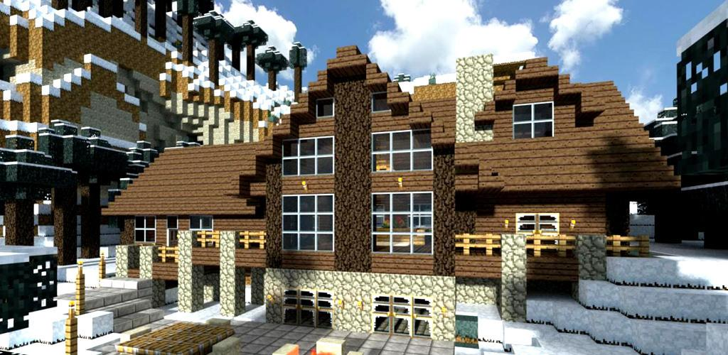 Villa moderne en bois à Minecraft